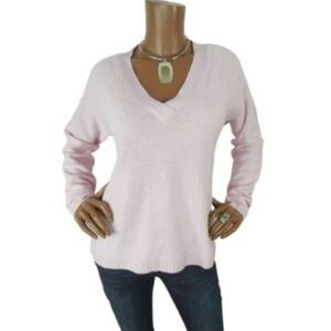 J CREW Womens Sweater M NWT $78 Pink V Neck